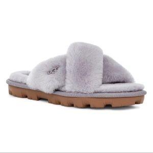 New UGG Fuzzette Slippers, Soft Amethyst, Grey, 6